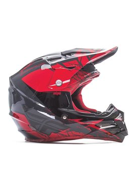 Fly Racing 2017 Fly Carbon Mips Retrospec Red/Black Large Helmet