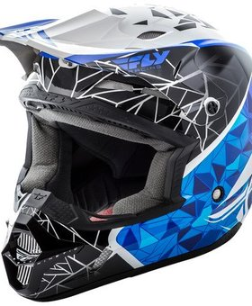 Fly Racing 2016 Fly Racing Kinetic Impulse Blue/Black/White Large Helmet