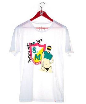 S&M S&M Nagel Please Mens White Med T-Shirt