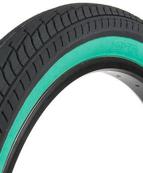 "Fit 20x2.4"" Fit FAF Black w/Tealwall Tire"