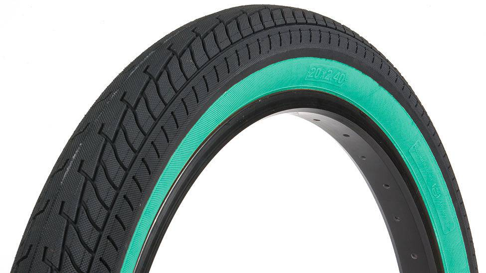 """Fit 20x2.4"""" Fit FAF Black w/Tealwall Tire"""