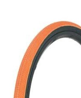 "Vee Tire Co. 20x1-1/8"" Vee Rubber Speedster Orange/Black Wall Tire"
