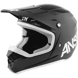 Answer Racing Answer Racing Shadow Black Youth Small Helmet