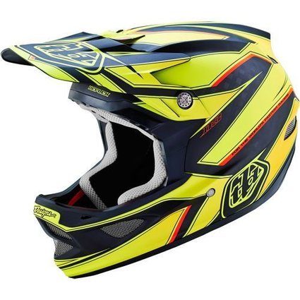 Troy Lee Designs Troy Lee D3 Carbon Reflex Yellow Medium Helmet