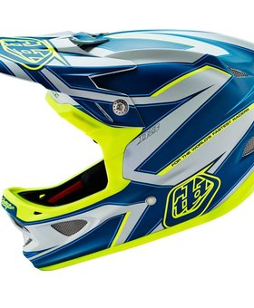 Troy Lee Designs Troy Lee D3 Composite Reflex Grey/Yellow Large Helmet