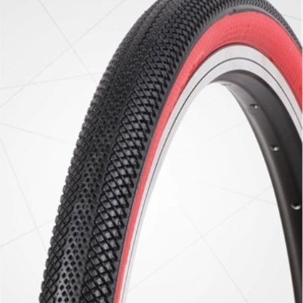 "Vee Tire Co. 20x1.75"" Vee Rubber Speedster Black/Red Wall Tire"