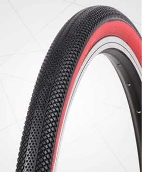 "Vee Tire Co. 20x1.95"" Vee Rubber Speedster Black/Red Wall Tire"