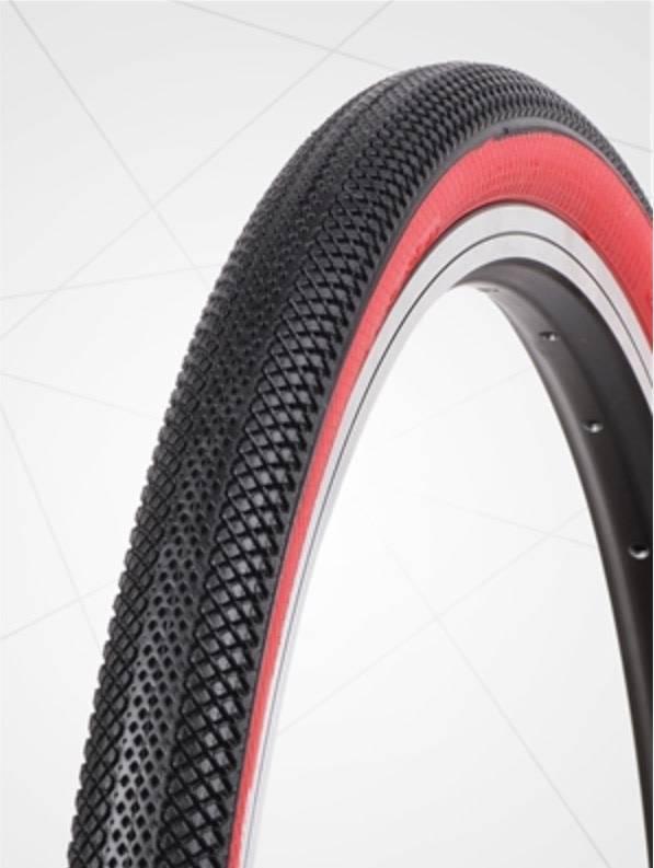 "Vee Tire Co. 20x1.95"" Vee Rubber Speedster Black/Red Wall Tire"