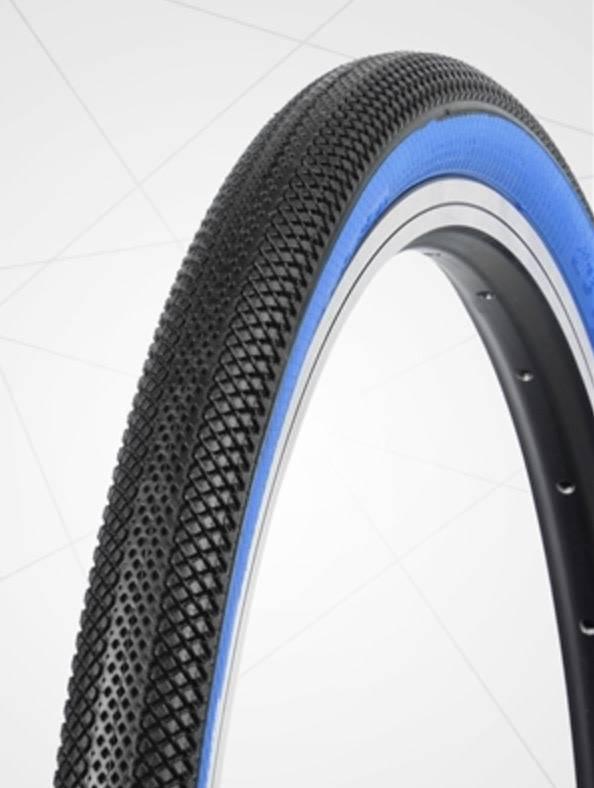 "Vee Tire Co. 20x1.6"" Vee Rubber Speedster Black/Blue Wall Tire"