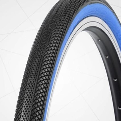 "Vee Tire Co. 20x1.75"" Vee Rubber Speedster Black/Blue Wall Tire"
