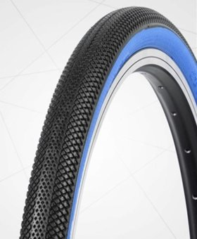 "Vee Tire Co. 20x1.95"" Vee Rubber Speedster Black/Blue Wall Tire"