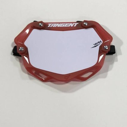 Tangent Products Tangent 3D Ventril Mini Trans Red Number Plate