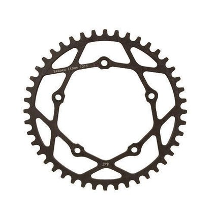 Rennen Rennen 5-Bolt Threaded 44T Black Chainring