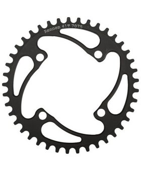 Rennen Rennen 4-Bolt Threaded 44T Black Chainring