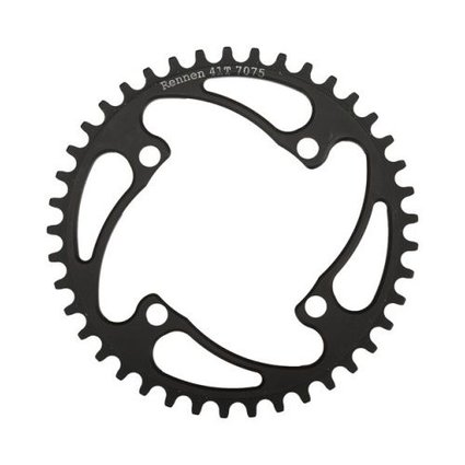 Rennen Rennen 4-Bolt Threaded 40T Black Chainring