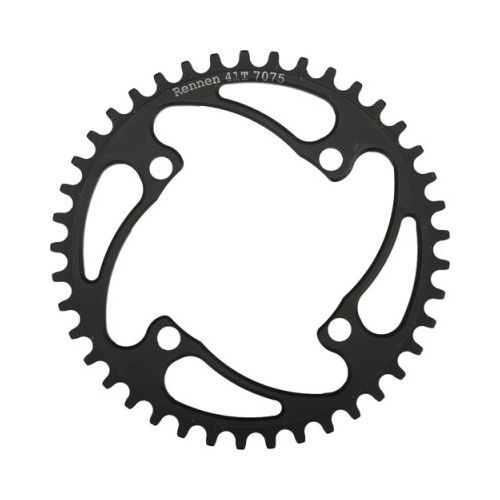 Rennen Rennen 4-Bolt Threaded 38T Black Chainring