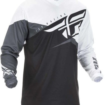 Fly Racing 2019 Fly Racing F-16 Youth Black/White/Grey Jersey