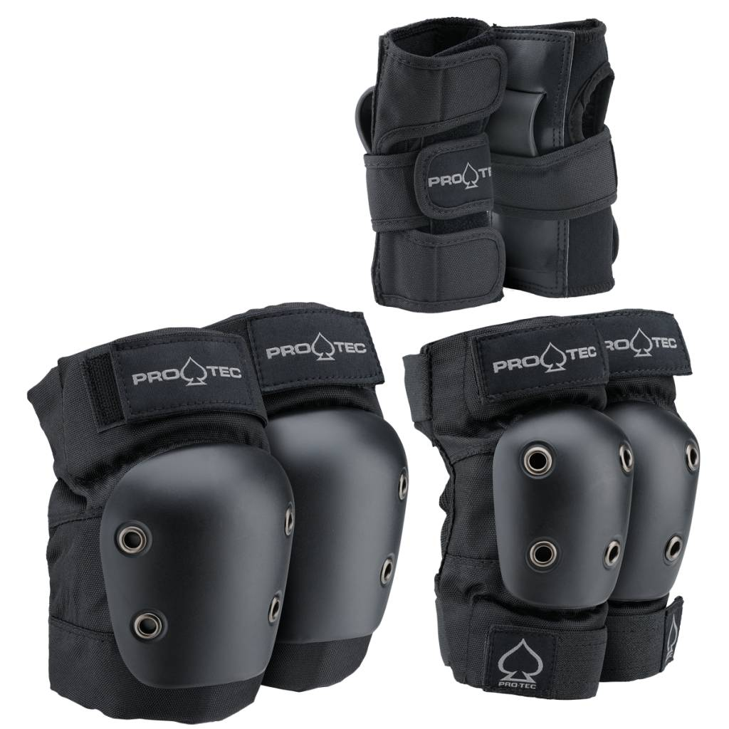 Pro-Tec Pro-tec Youth Street Gear Black Pad Set