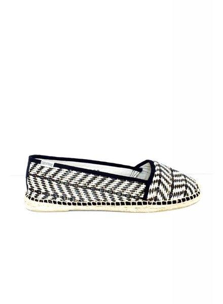 Soludos Solde - Chaussures noir et blanc - Neuves