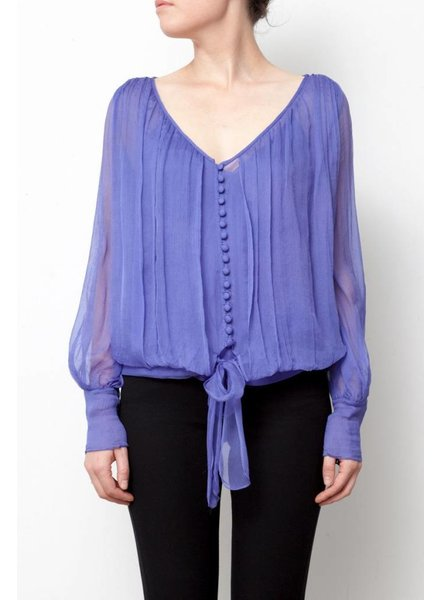 Elizabeth & James BLOUSE EN SOIE VIOLET