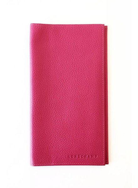 Longchamp POCHETTE EN CUIR ROSE