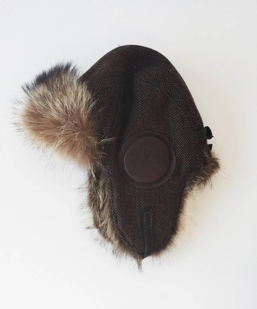 Harricana Chapeau style aviateur marron en fourrure