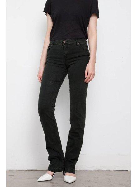 Second Yoga Jeans JEANS VERT FONCÉ JAMBES DROITES