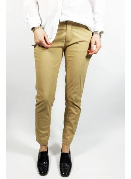 French Connection PANTALONS BEIGE MOUTARDE