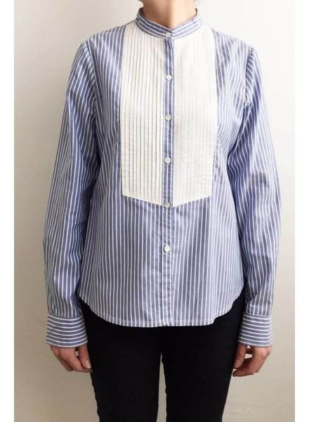 Theory SOLDE - CHEMISE BLEUE ET BLANCHE RAYÉE