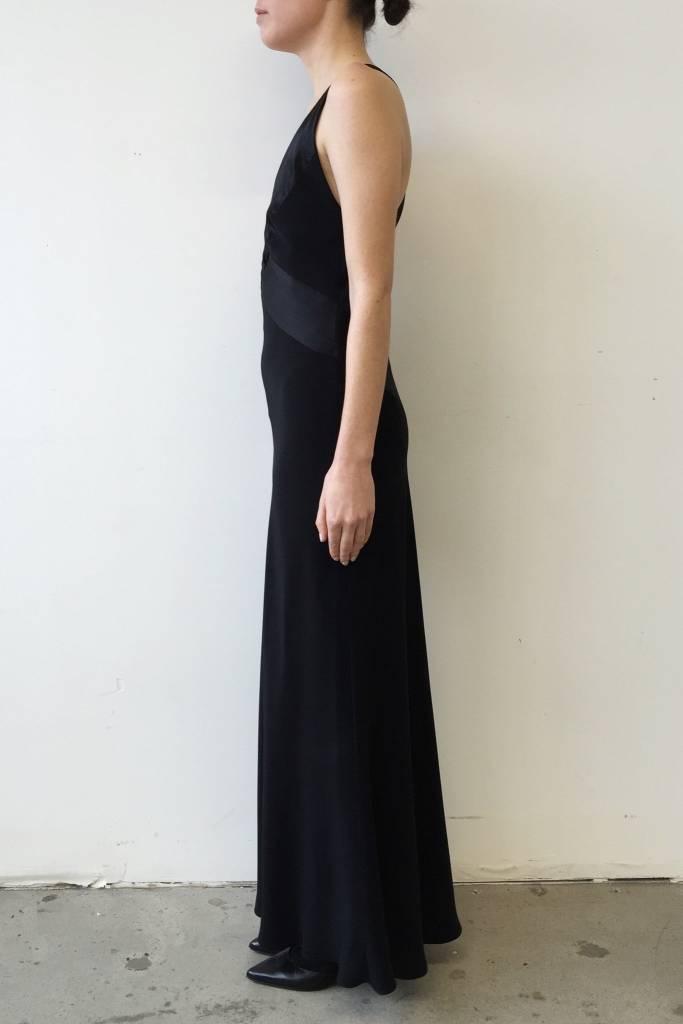 ABS by Allen Schwartz Solde - Robe noire longue à dos nu