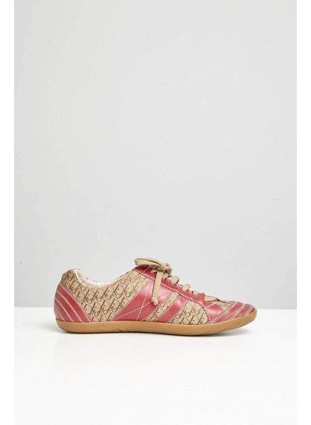 Dior Chaussures en cuir rouge vin et monogramme