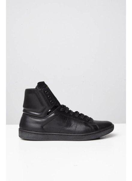 Saint Laurent Paris Sneakers en cuir noir