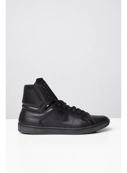 Saint Laurent Paris SOLDE - SNEAKERS EN CUIR NOIR
