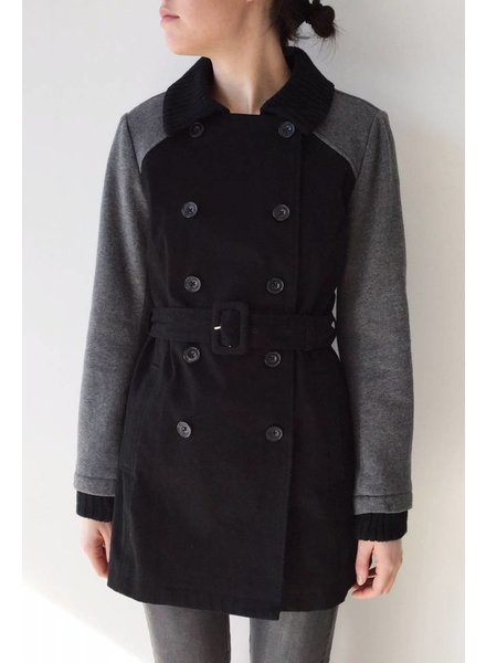 Splendid MANTEAU MI-LONG NOIR ET GRIS