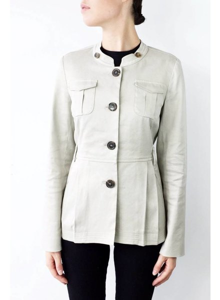 S Max Mara MANTEAU BEIGE STYLE MILITAIRE - COMME NEUF
