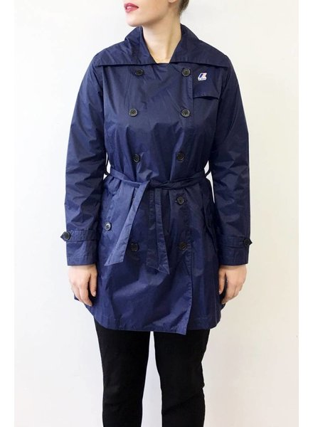 K-Way SOLDE - TRENCH IMPERMÉABLE MARINE