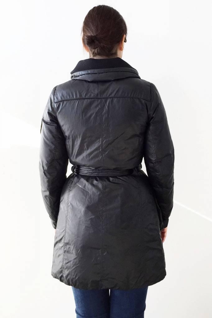 Add Solde - Manteau d'hiver noir matelassé