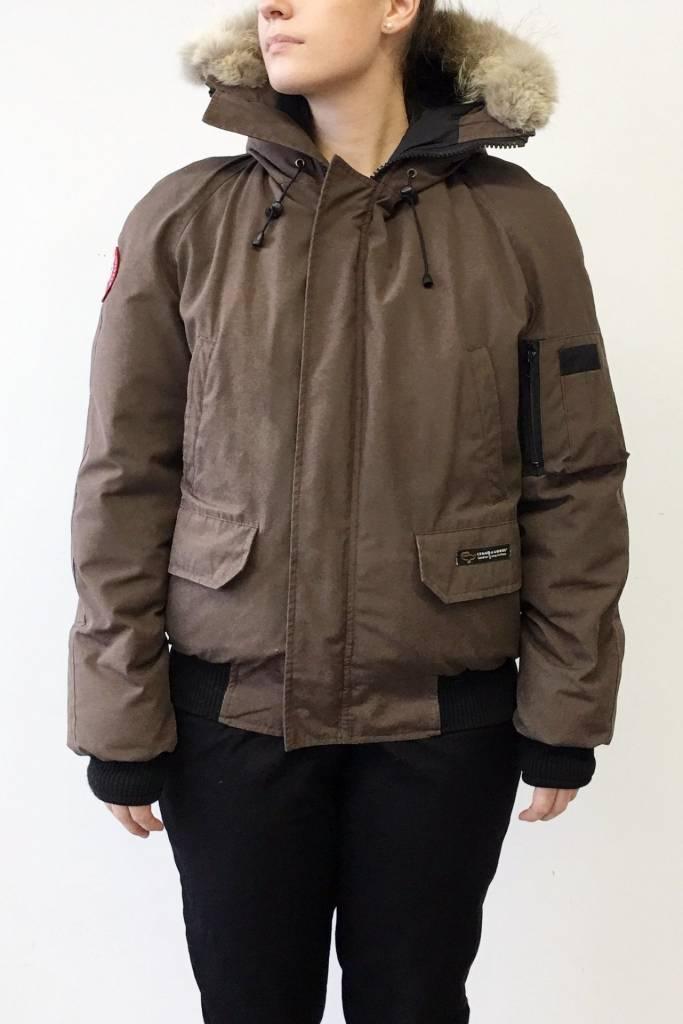 Canada Goose Solde - Manteau brun style aviateur (modèle pour homme)