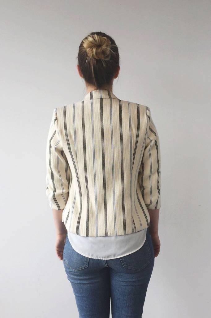 Bodybag by Jude Veston crème à rayures bleues et noires - Neuf