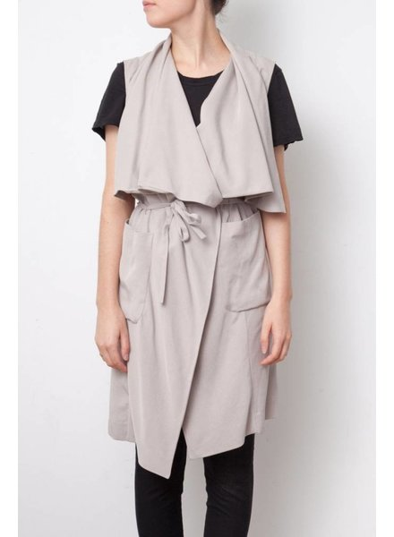 BCBG Max Azria TRENCH TAUPE SANS MANCHES