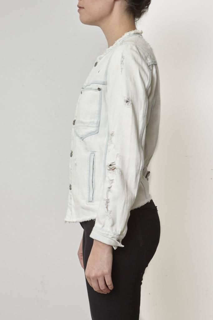 G-Star Manteau en jeans pâle