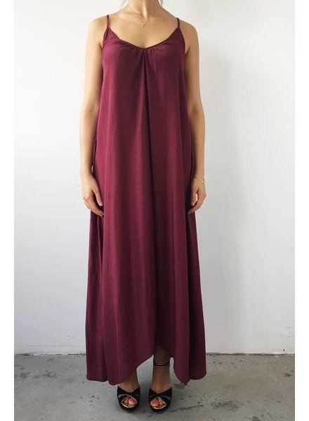 Pink Stitch ROBE MAXI AMPLE BOURGOGNE