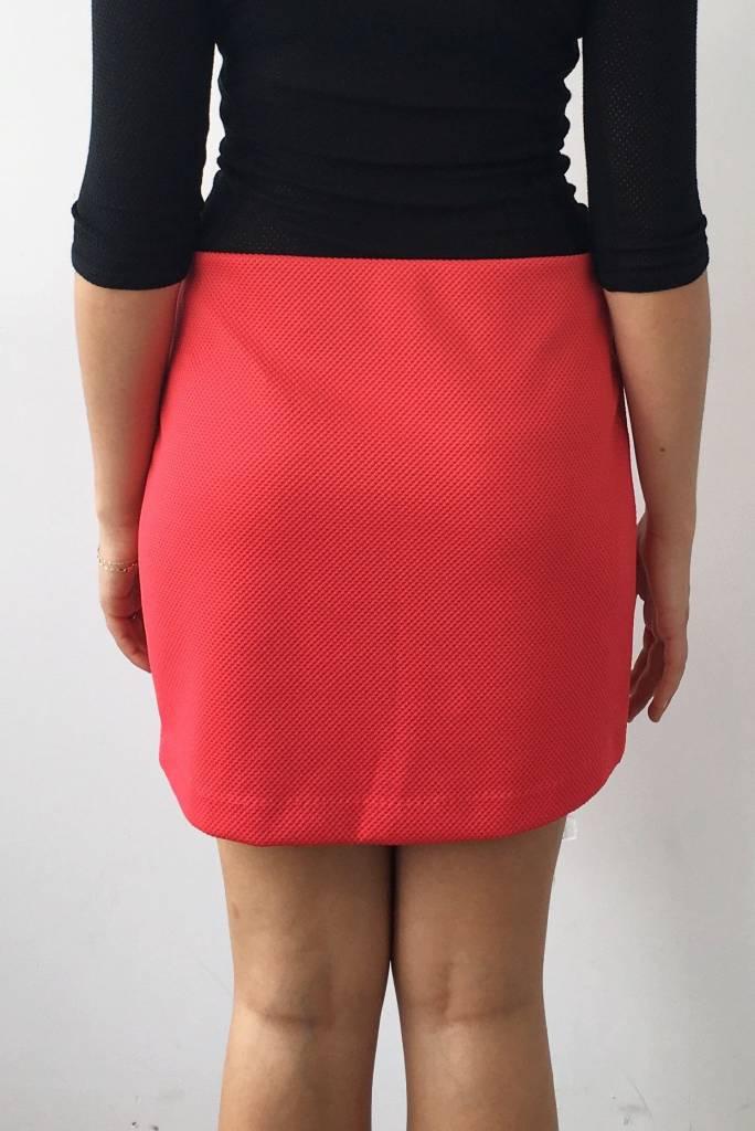 jupe rouge taille lastique bcbg generation deuxi me dition. Black Bedroom Furniture Sets. Home Design Ideas