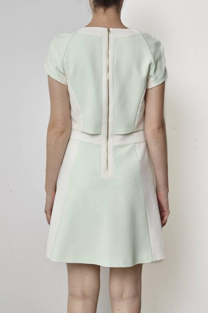 Ted Baker Solde - Robe vert pastel et crème
