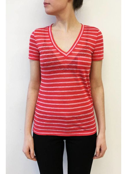 J.Crew T-SHIRT ROUGE RAYÉ ROSE