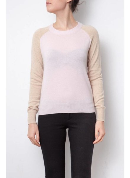 Theory PULL ROSE ET BEIGE EN CACHEMIRE