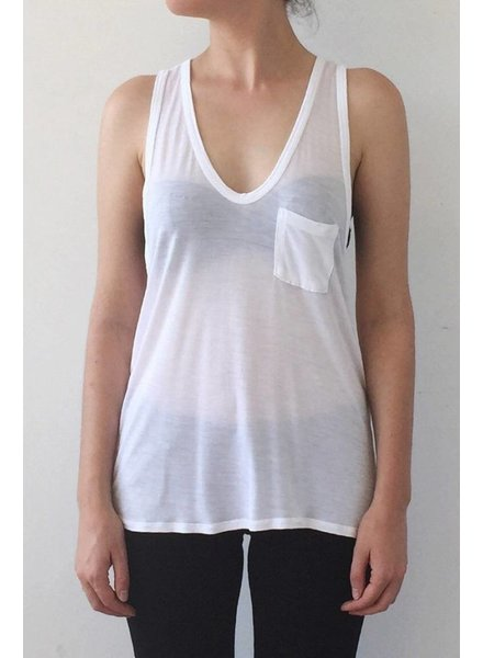 T by Alexander Wang CAMISOLE BLANCHE AVEC PETITE POCHE