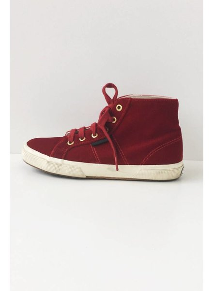 Superga x The Man Repeller ESPADRILLES EN VELOURS ROUGE