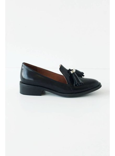 Jeffrey Campbell CHAUSSURES EN CUIR NOIR STYLE LOAFERS