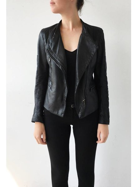 Surface to Air x Kim Gordon SOLDE - VESTE NOIRE EN CUIR